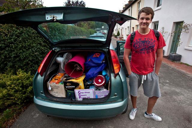 child leaving for university